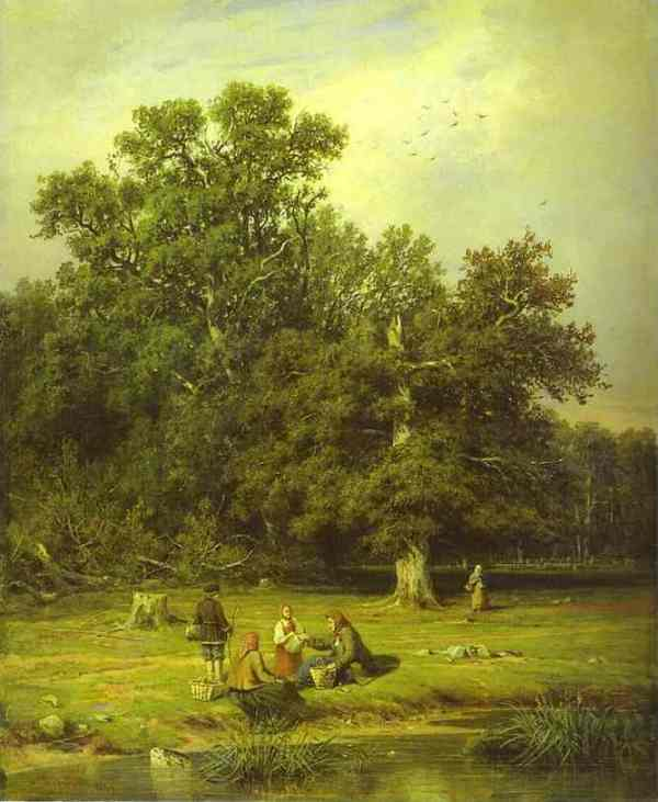 Gathering Mushrooms 1870 | Ivan Shishkin | Oil Painting