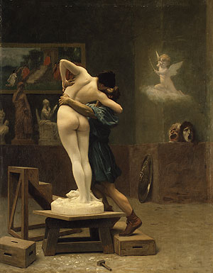 Pygmalion and Galatea ca. 1890 | Jean Len Geee | Oil Painting