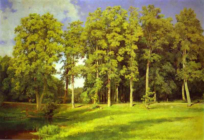Grove By The Pond Preobrazhenskoye 1896 | Ivan Shishkin | Oil Painting