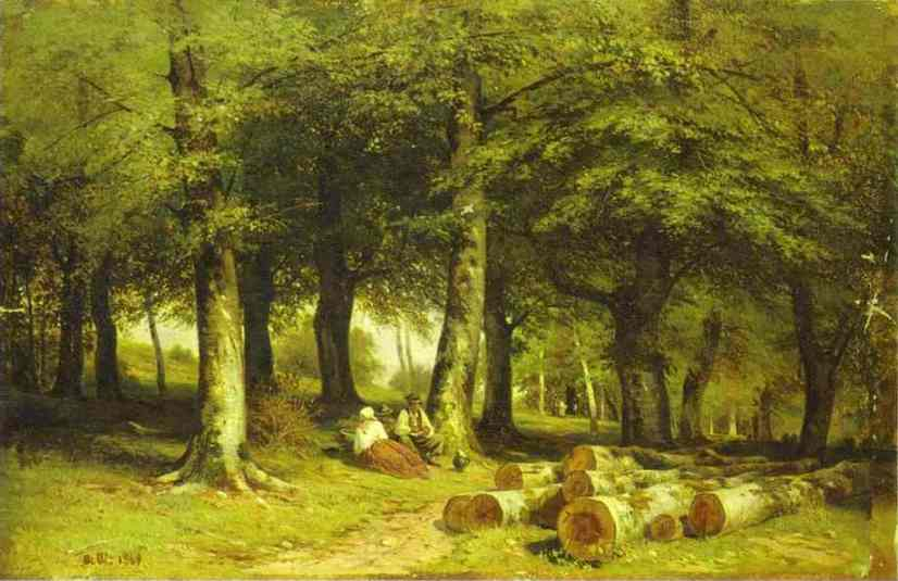 In The Grove 1869 | Ivan Shishkin | Oil Painting