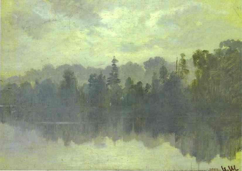 Krestovsky Island Shrouded In Mist | Ivan Shishkin | Oil Painting