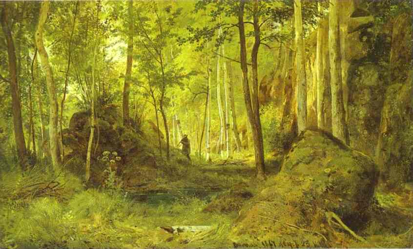 Landscape With A Hunter Valaam Island 1867 | Ivan Shishkin | Oil Painting