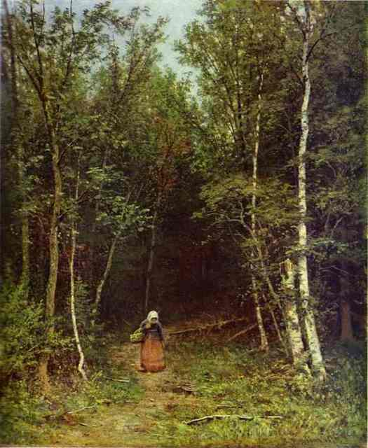 Landscape With A Woman 1872 | Ivan Shishkin | Oil Painting