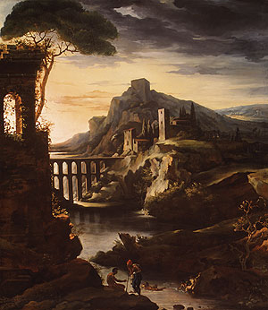 Evening Landscape with an Aqueduct 1818 | Jean Louis Andre Theodore | Oil Painting