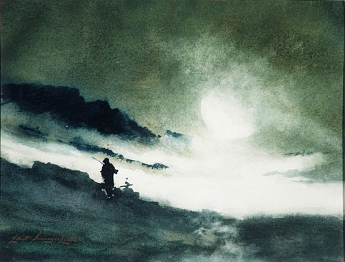 Moon Rising over Fog Clouds | Elliott Daingerfield | Oil Painting