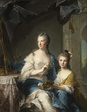 Madame Marsollier and Her Daughter 1749 | Jean Marc Nattier | Oil Painting