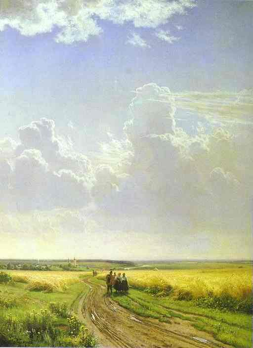 Noon In The Neighbourhood Of Moscow 1869 | Ivan Shishkin | Oil Painting