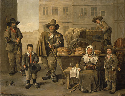 The Bakers Cart 1656   Jean Michelin   Oil Painting