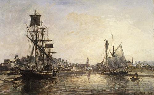 Honfleur 1865 | Johan Barthold Jongkind | Oil Painting
