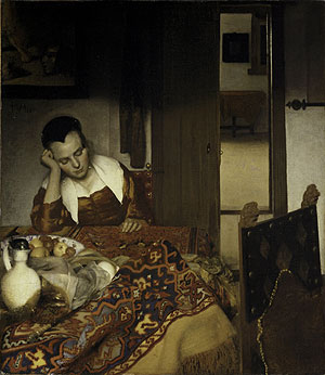 A Maid Asleep 1656 | Johannes Vermeer | Oil Painting