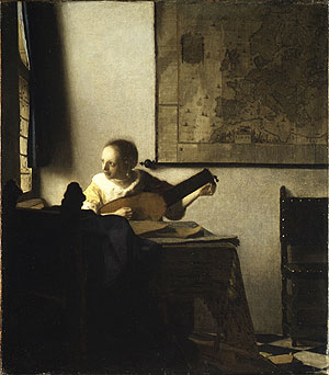 Woman with a Lute early 1660s | Johannes Vermeer | Oil Painting
