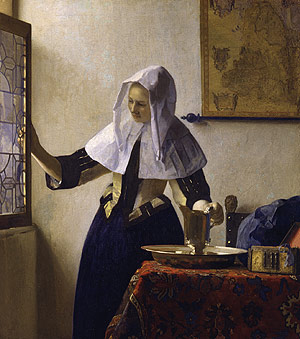 Young Woman with a Water Pitcher ca 1662 | Johannes Vermeer | Oil Painting