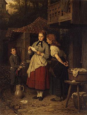 The Letter 1873 | Johann Georg Meyer | Oil Painting