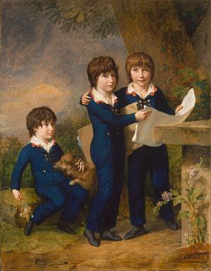 The Children of Martin Anton Heckscher Johann Gustav Wilhelm Moritz Carl Martin Adolph and Leopold (born 1792) 1805 | Johann Heinrich Wilhelm Tischbein | Oil Painting