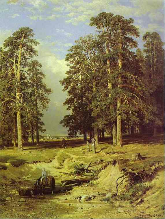 The Holy Spring Near Yelabuga 1886 | Ivan Shishkin | Oil Painting