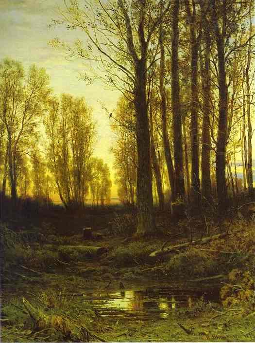 Twilight After Sunset 1874 | Ivan Shishkin | Oil Painting