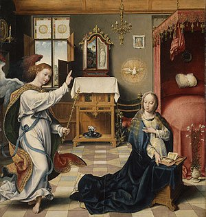 The Annunciation ca 1525 | Joos van Cleve | Oil Painting