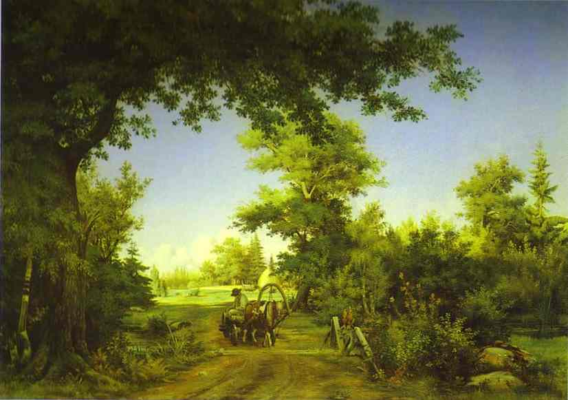 View In The Vicinity Of St Petersburg 1856 | Ivan Shishkin | Oil Painting