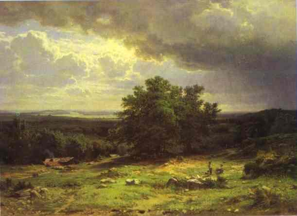 View Near Dusseldorf 1865 | Ivan Shishkin | Oil Painting