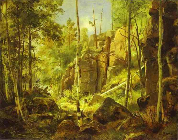 View Of Valaam Island Kukko 1859 | Ivan Shishkin | Oil Painting
