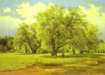 Willows Lit Up By The Sun 1860s-1870s | Ivan Shishkin | Oil Painting