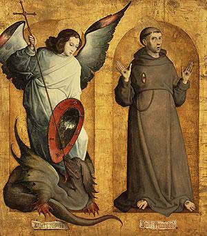 Saints Michael and Francis ca 1505 | Juan de Flandes | Oil Painting