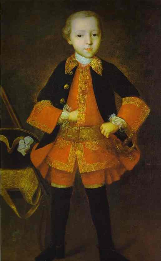 Prince FN Golitzin As A Child Detail 1760 | Ivan Vishnyakov | Oil Painting