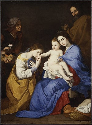 The Holy Family with Saints Anne and Catherine of Alexandria 1648 | Jusepe de Ribera | Oil Painting