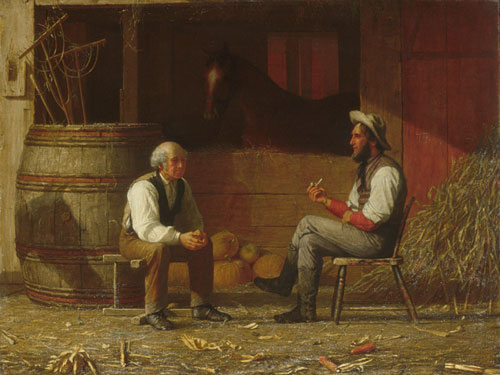 Talking It Over 1872 | Enoch Wood Perry | Oil Painting