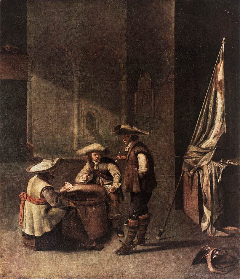 Guardroom with Soldiers Playing Cards | Jacob Duck | Oil Painting