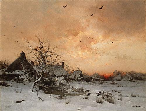 January Cernay near Rambouillet   Len Germain Pelouse   Oil Painting