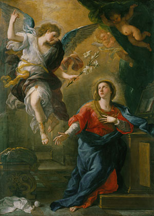 The Annunciation 1672 | Luca Giordano | Oil Painting