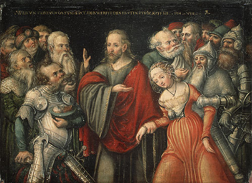 Christ and the Adulteress mid 1540s | Lucas Cranach the Elder | Oil Painting