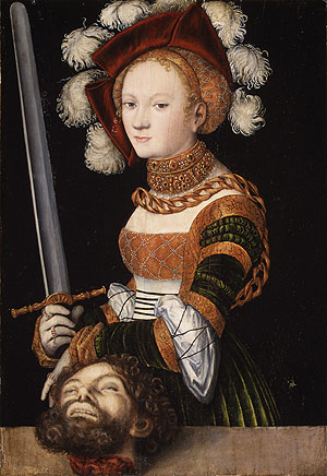 Judith with the Head of Holofernes ca 1530 | Lucas Cranach the Elder | Oil Painting