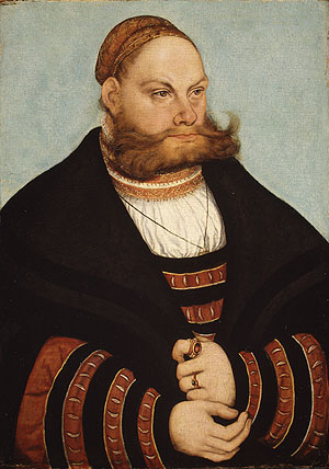 Portrait of a Man with a Gold Embroidered Cap 1532 | Lucas Cranach the Elder | Oil Painting