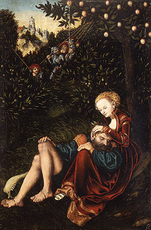 Samson and Delilah | Lucas Cranach the Elder | Oil Painting