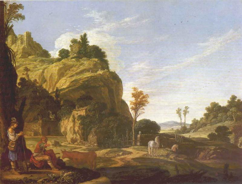 Landscape with Mercury and Battus 1618 | Jacob Pynas | Oil Painting