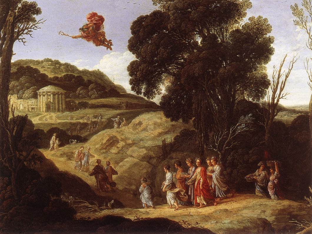 Mercury and Hearse 1618 | Jacob Pynas | Oil Painting