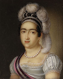 Princess Maree Francisca de Asis de Borbee and Her Son Infante Carlos Luis Maree Fernando de Borbee 1818 | Luis de la Cruz y Rios | Oil Painting