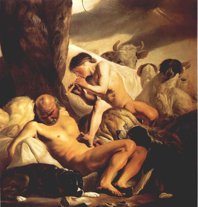 Mercury Argus And Io 1630s | Jacob Van Campen | Oil Painting