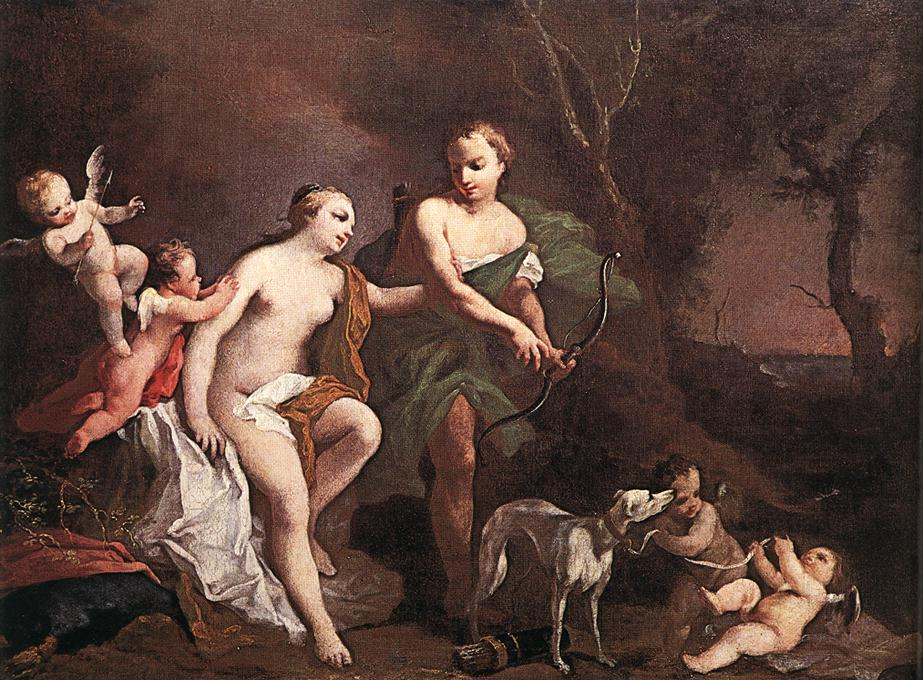 Venus And Adonis 1740 | Jacopo Amigoni | Oil Painting