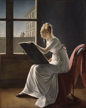 Young Woman Drawing 1801 | Marie Denise Villers | Oil Painting