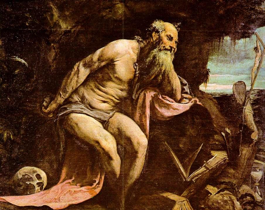 St Jerome 1556   Jacopo Bassano   Oil Painting