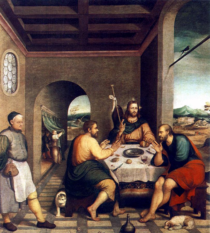 Supper At Emmaus 1538 | Jacopo Bassano | Oil Painting