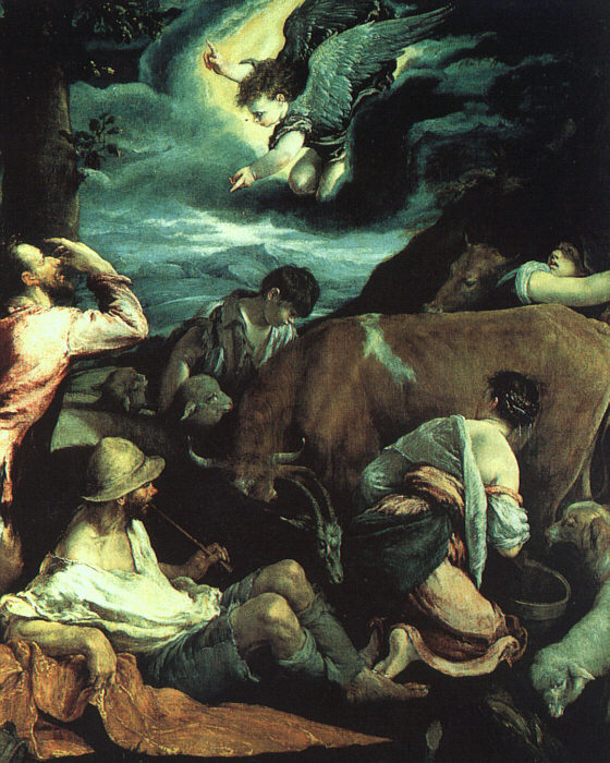 The Annunciation To The Shepherds 1533 | Jacopo Bassano | Oil Painting