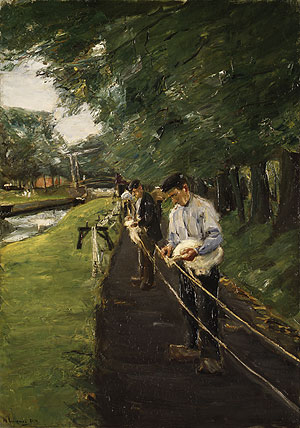 The Ropewalk in Edam 1904 | Max Liebermann | Oil Painting
