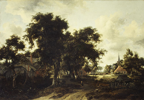 Entrance to a Village ca 1665 | Meindert Hobbema | Oil Painting