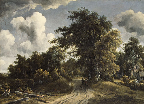 Woodland Road probably ca 1670 | Meindert Hobbema | Oil Painting