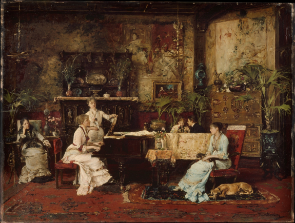 The Music Room 1878 | Mihaly de Munkacsy | Oil Painting