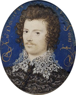 Portrait of a Young Man Probably Robert Devereux  Second Earl of Essex 1588 | Nicholas Hilliard | Oil Painting